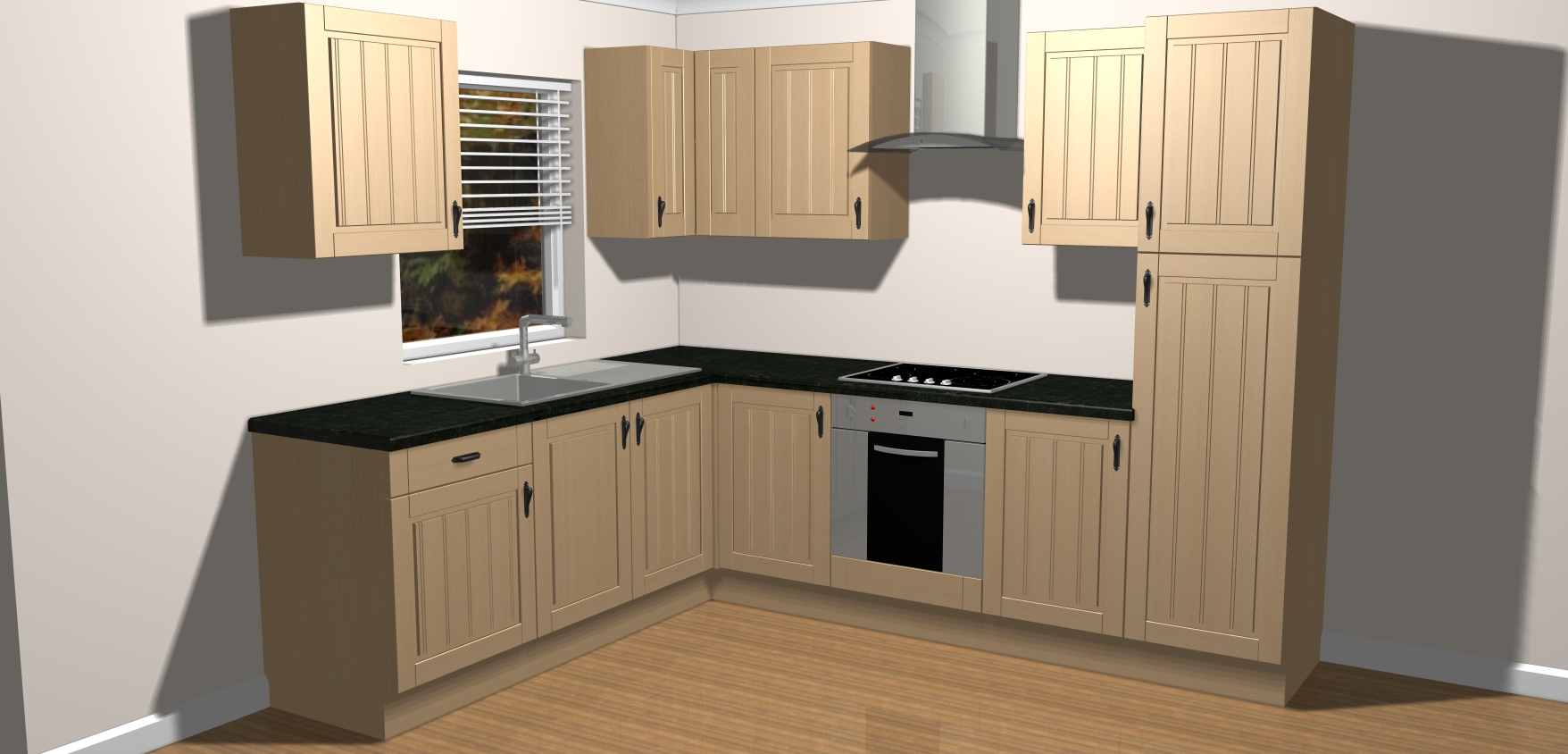 New avondale ivory complete fitted kitchen units ebay for Kitchen units