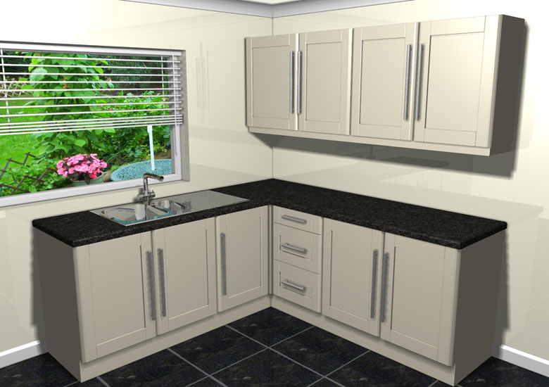 New ohio cream shaker complete fitted kitchen units ebay for Cream kitchen carcasses